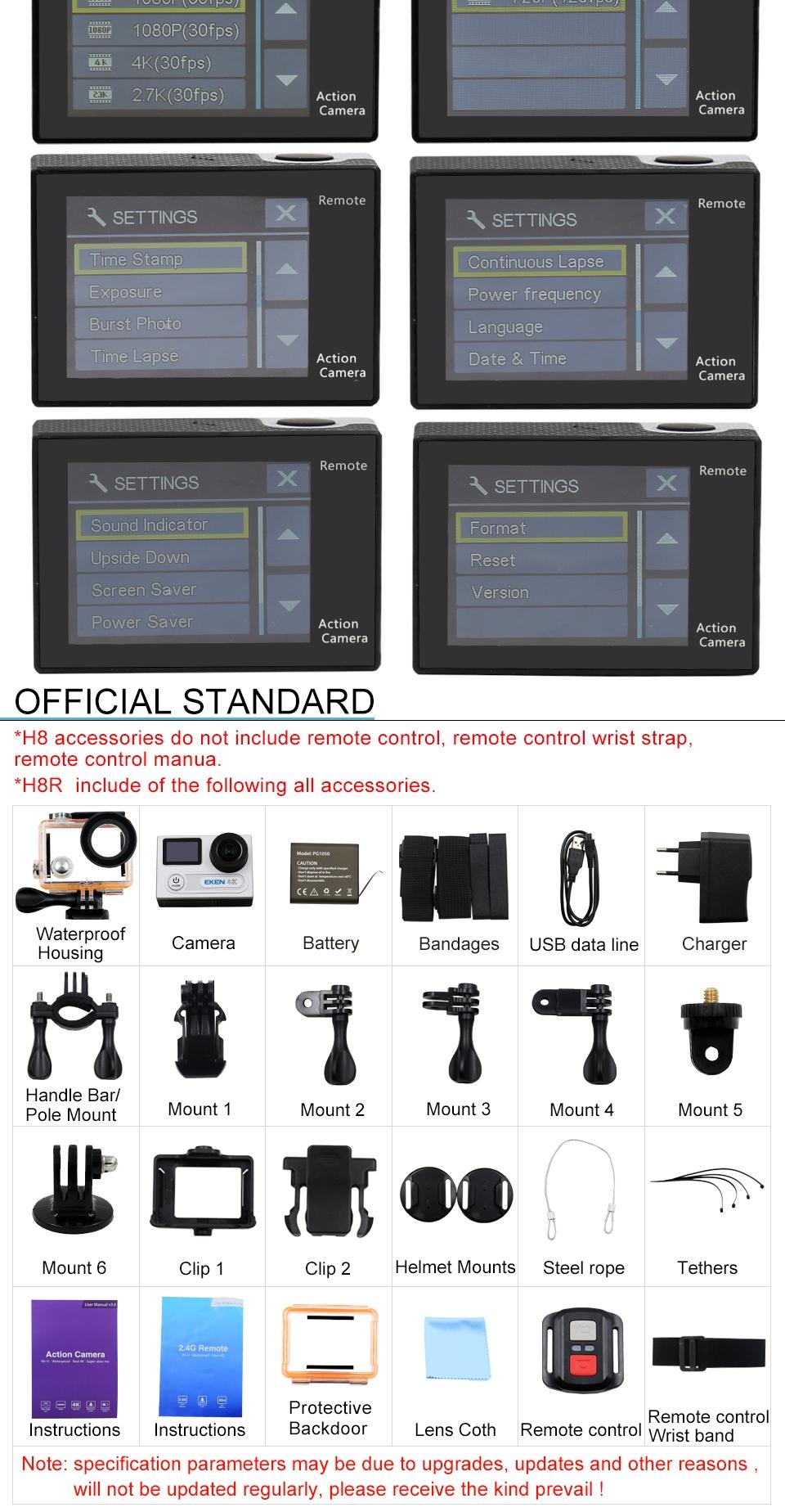EKEN H8R Ultra HD 4K WIFI Action Camera